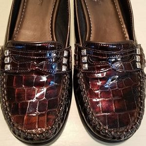 Brighton Mohawk Faux Croc Loafers Size 7.5 N